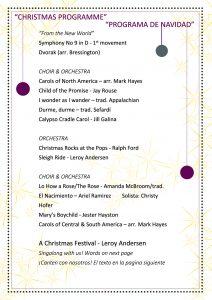 Collegium Musicum Christmas Programme